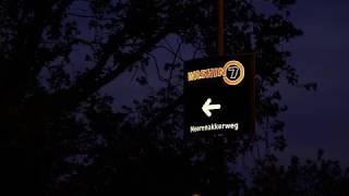 WASHIN7 enthousiast over Lichtmastreklame!