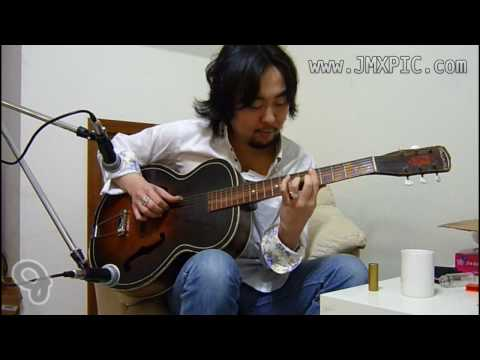 Yahoo! (JP) Auction 出品物: Harmony Archtone H1215 Archtop Acoustic, すのう氏による演奏