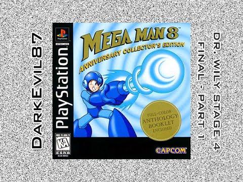 Mega Man 8 (PS1) Dr. Wily (4th Level) (Part 1/2) (Final)