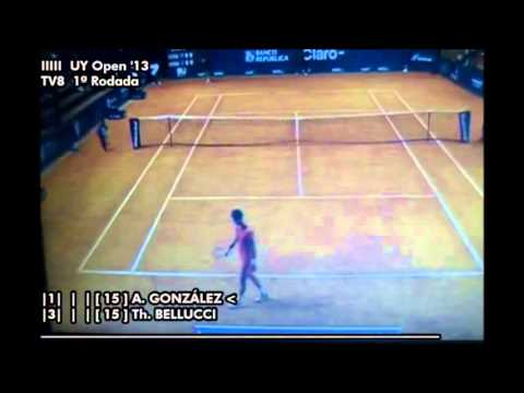Thomaz Bellucci vs Alejandro Gonzalez - Uruguay Open 2013 (1ª Rod.) - Set 1