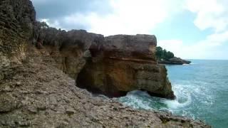 pusaran air yang mengerikan di pantai selatan tulungagung