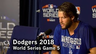 World Series 2018: Clayton Kershaw talks about losing the World Series