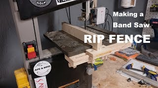 I made an adjustable rip fence for my band saw out of scrap plywood and some inexpensive hardware. This could be adapted to fit