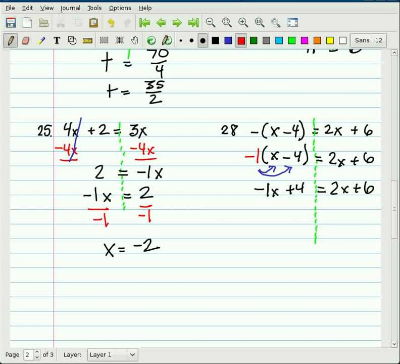 Alg I Berechnen : algebra 1 ten examples of solving equations part 2 ~ Themetempest.com Abrechnung