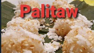 How to make Palitaw / Sweet rice cake / filipino food