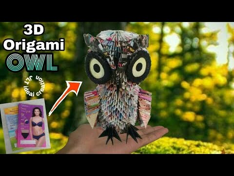 How to make 3d origami owl v2 | DIY paper owl home decoration ... | 360x480