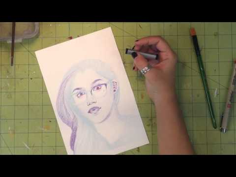 Watch Me Draw : Self Portrait #288 ft. ArtSnacks Unboxing!