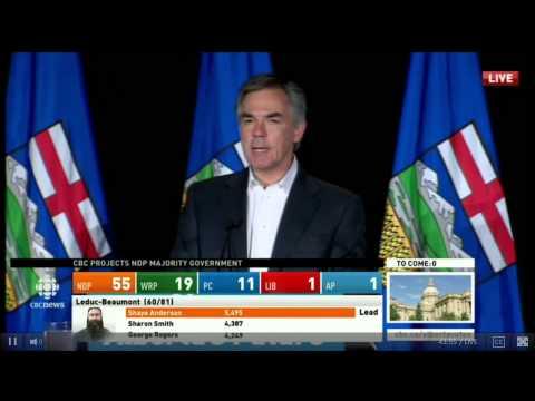 Jim Prentice Post-Election Speech - Alberta Election 2015 (CBC)