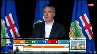 Jim Prentice Post-Election Speech - Alberta Election 2015 (CBC)