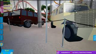 Playing Roblox, Theme Park: ROBLOX Point [2] with HalloweenFox287