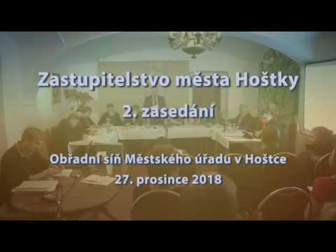 Zastupitelstvo města Hoštky 2. zasedání 27.12.2018