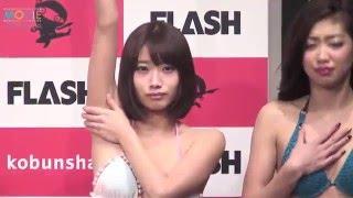 新旧ミスFLASHがポージング対決 豊田瀬里奈 検索動画 5