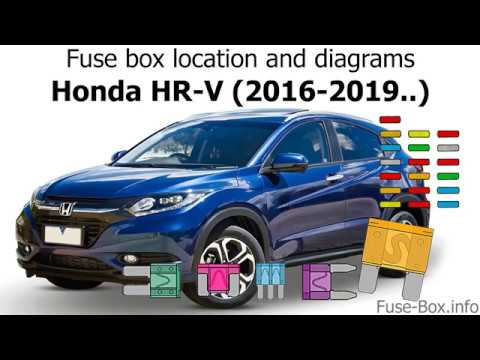 [SCHEMATICS_4FD]  Fuse box location and diagrams: Honda HR-V (2016-2019..) - YouTube   2015 Honda Cr V Fuse Diagram      YouTube