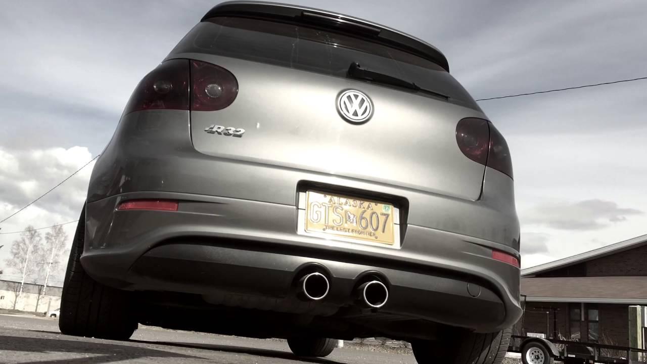 2008 Volkswagen R32 Exhaust Start up/rev/take off