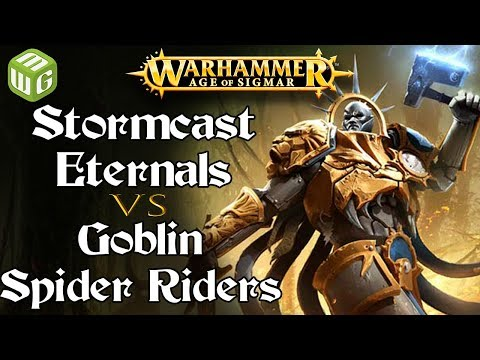 Stormcast Eternals vs Goblin Spider Riders Age of Sigmar Battle Report - War of the Realms Ep 200