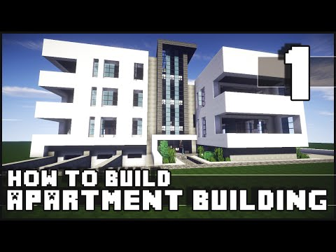 Minecraft - How to Build : Modern Apartment Building - Part 1