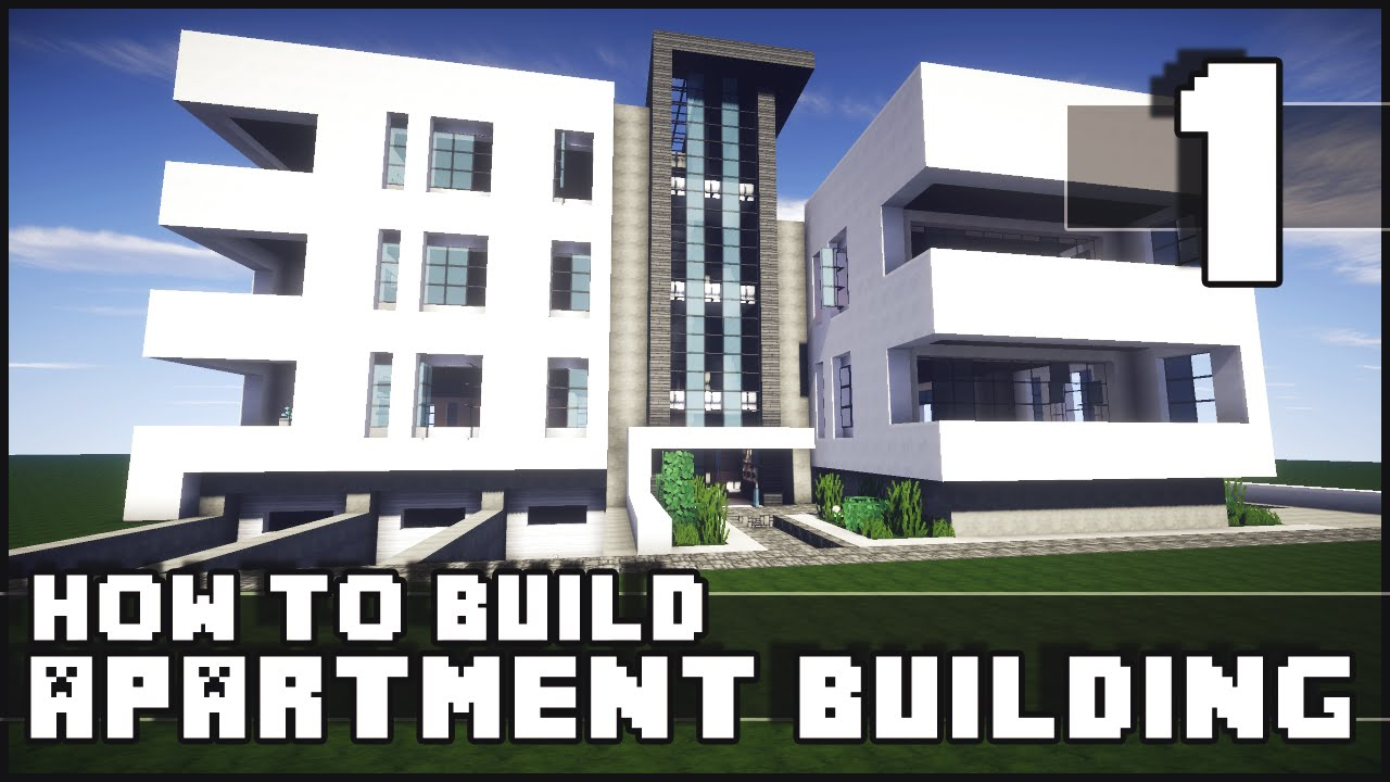 Minecraft How To Build Modern Apartment Building Part 1 YouTube