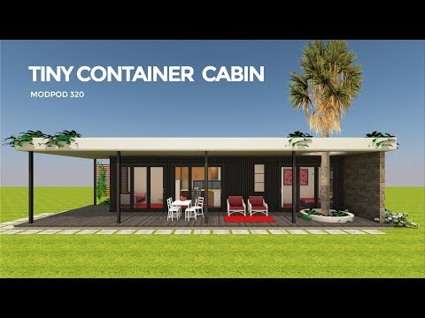 Shipping Container Tiny House Design Floor Plan | MODPOD 320