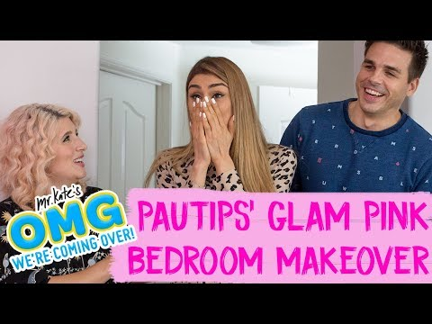 Paula Galindo aka PauTips鈥� Glam Pink Bedroom Makeover! | OMG We're Coming Over