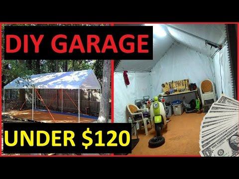 DIY Carport Garage Shelter / Storage   Recycled Pallet Floor