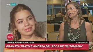 Amalia Granata trató a Andrea del Boca de Mitómana y de manipular a su hija