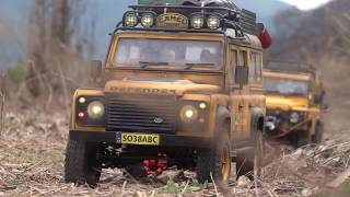 1/10 Scale Land Rover DEFENDER 90/110 Off Road   Camel Trophy Trail with ADRC