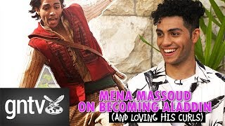 """Mena Massoud on Aladdin: """"Middle Eastern hair is very… resilient"""""""