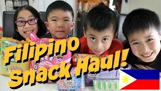 Kids try Filipino snacks - Happy Family Day 2016