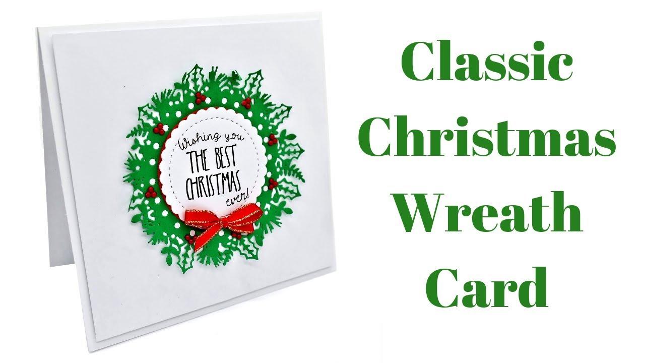Christmas Wreath Card Christmas Cards Youtube