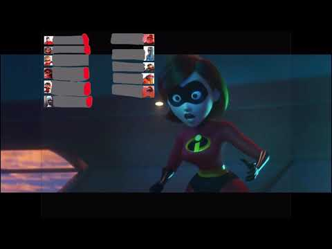 The Incredibles 2 Screenslaver Goggles Fight HealthBars