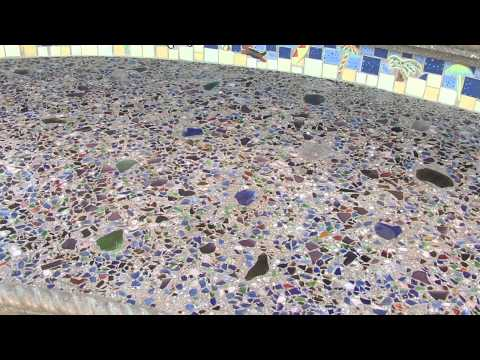 Outdoor Countertops - Concrete with Recycled Glass