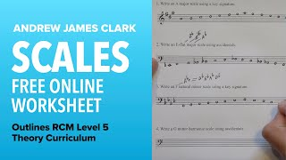 Scales: Music Theory RCM Level 5 (3/4)