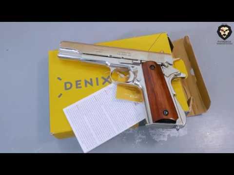Макет пистолета Denix D7/6312 Colt 1911A1 (ММГ, Кольт) видео обзор 4k