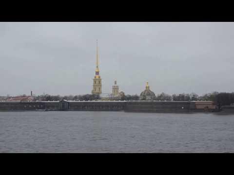 Neva River in Saint Petersburg / Petrograd / Leningrad