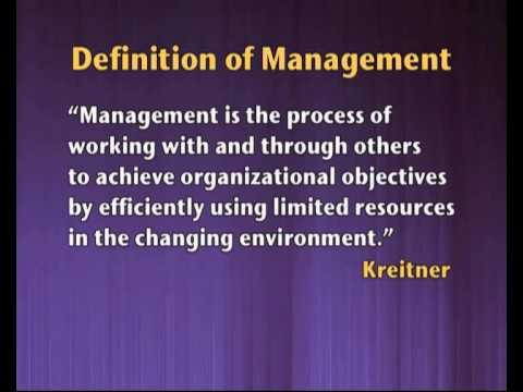Nature & Significance of Management