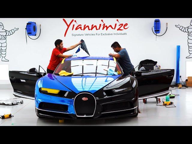 Did he really wrap a Bugatti Chiron? 🤯 😳