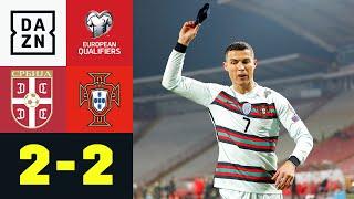 CR7 stinksauer! Portugal wird Tor geklaut: Serbien - Portugal 2:2 | UEFA European Qualifiers