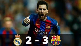 Реал Мадрид Барселона 2 3 Обзор Матча Чемпионата Испании 23 04 2017 HD