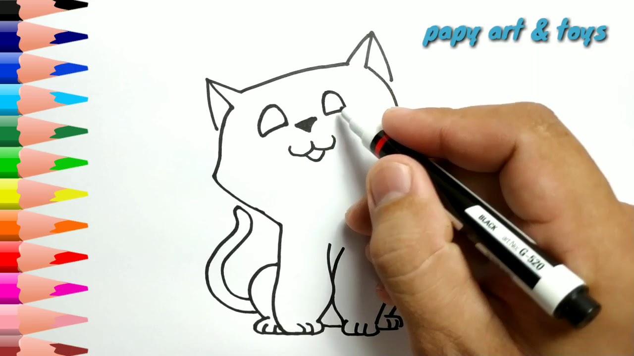 Mewarnai dan Menggambar: Gambar Kucing Lucu Untuk Mewarnai