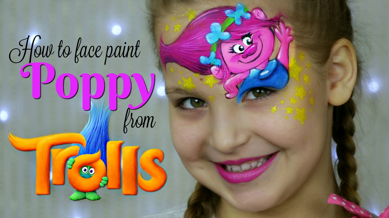 Trolls princess poppy face painting makeup for kids youtube solutioingenieria Gallery