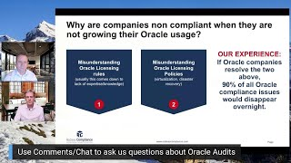 Why are companies non compliant with Oracle Software, if they are not expanding your Oracle usage?