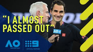 Roger Federer's hilarious post match interview - Australian Open | Wide World of Sports