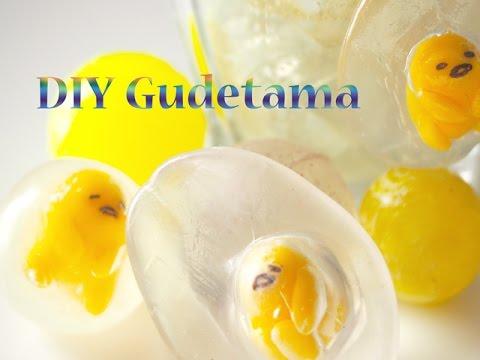 おゆまるでスーパーボールなぐでたま DIY OYUMARU Gudetama Toy