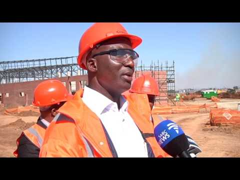 Minister of Transport Joe Maswanganyi visits new trains factory, Nigel