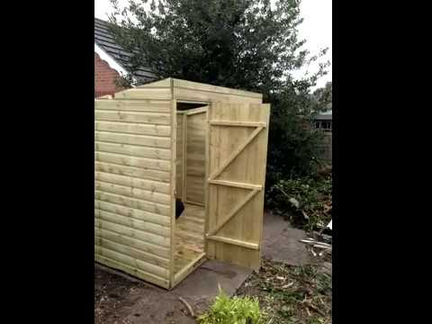 Diy How To Build A Pent Shed Youtube