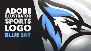 Adobe Illustrator | Mascot / Sports Logo | Blue Jay | Shard