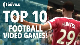 Top 10 Footy Video Games of ALL TIME! | FIFA, Pro Evo, Football Manager and More!(Gaz lists our Top 10 Football VIDEO GAMES of ALL TIME! We've spent SO MANY hours playing these! Get your Top 10 in the comments below! Subscribe ..., 2016-06-26T18:25:30.000Z)