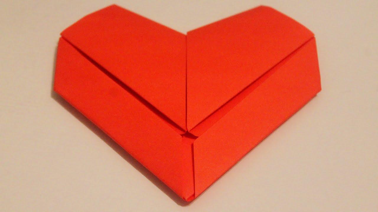 plegado de papel corazon