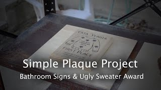 Simple Plaques for Friends (Part 1) - CNC Project #66 [Shapeoko]
