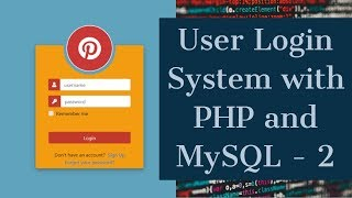 Welcome to the video on responsive php user login system with and mysql from scratch. in this course you will learn build a form...